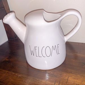 "Rae Dunn ""welcome"" watering can"